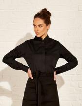 Women`s Tailored Fit Bar Shirt Mandarin Collar Long Sleeve