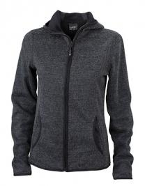 Ladies` Knitted Fleece Hoody